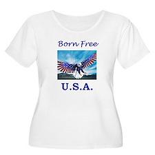 Born free USA Eagle T-Shirt