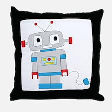 Cute Robots Throw Pillow