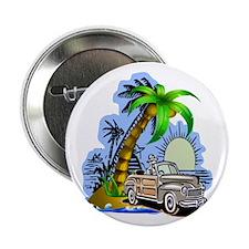 """Tropical Scene 2.25"""" Button"""