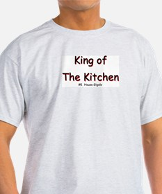 King of The Kitchen Ash Grey T-Shirt