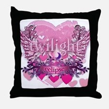 Twilight Eclipse Pink Heart Throw Pillow