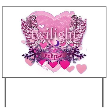Twilight Eclipse Pink Heart Yard Sign