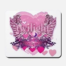 Twilight Eclipse Pink Heart Mousepad