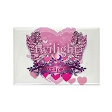 Twilight Eclipse Pink Heart Rectangle Magnet