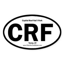 Capitol Reef Oval Bumper Stickers