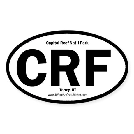 Capitol Reef Oval Sticker