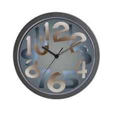 Blue Orange Wall Clock