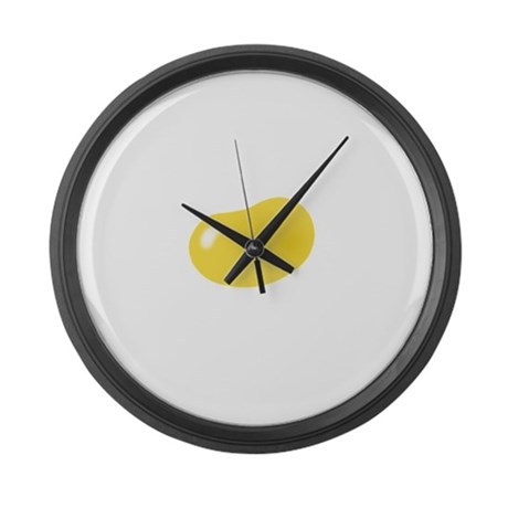 just yellow jellybean Large Wall Clock