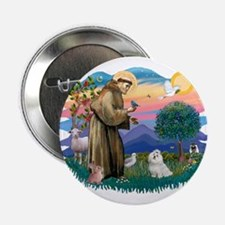 "St Francis #2 / Maltese (#7) 2.25"" Button"