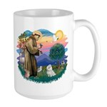 St Francis #2 / Maltese (#7) Large Mug