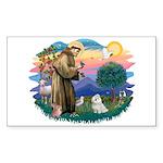 St Francis #2 / Maltese (#7) Sticker (Rectangle)