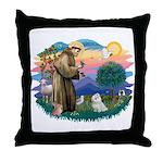 St Francis #2 / Maltese (#7) Throw Pillow