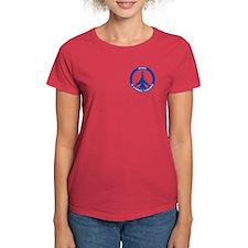 FB-111A Peace Sign Women's T-Shirt (Dark)