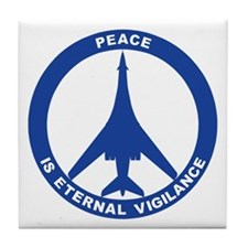 B-1B Peace Sign Tile Coaster