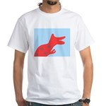 Dinosaur Silhouette White T-Shirt