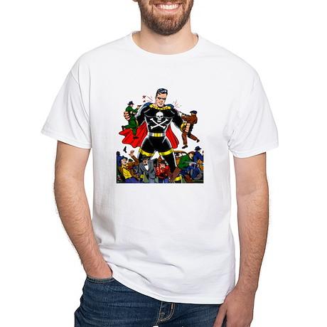 $19.99 Black Terror Icon White T-Shirt