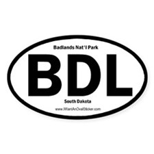 Badlands Oval Decal