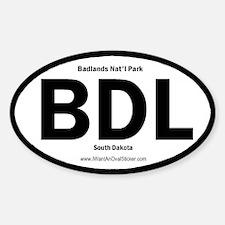 Badlands Oval Decal