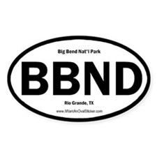 Big Bend Oval Decal