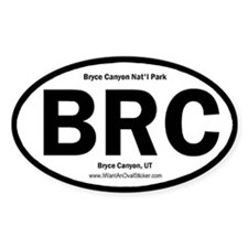 Bryce Canyon Oval Decal