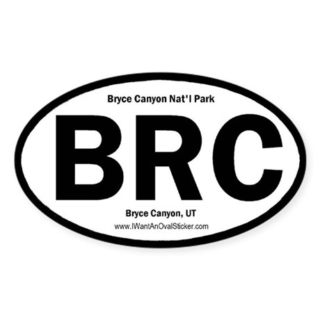 Bryce Canyon Oval Sticker