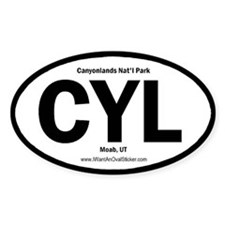 Canyonlands Oval Decal