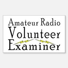 Amateur Radio VE Rectangle Decal