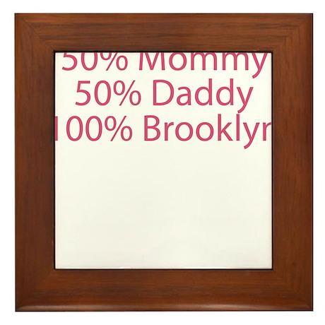 100% Brooklyn Framed Tile