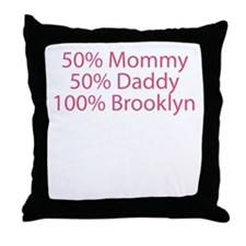 100% Brooklyn Throw Pillow