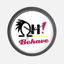 *OH! Behave* Wall Clock
