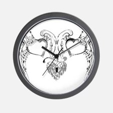 DOUBLE HEART LOCKET TATTOO Wall Clock
