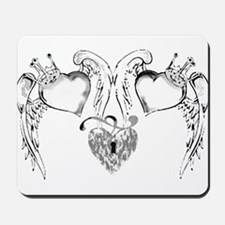DOUBLE HEART LOCKET TATTOO Mousepad