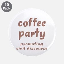 "Coffee Party 3.5"" Button (10 pack)"