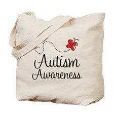 Butterfly Autism Awareness Tote Bag