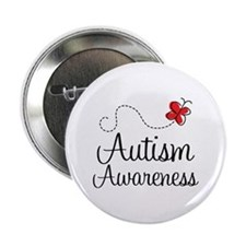 "Butterfly Autism Awareness 2.25"" Button"