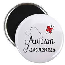 Butterfly Autism Awareness Magnet