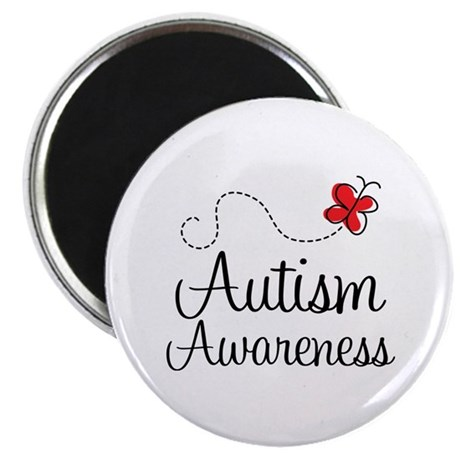 """Butterfly Autism Awareness 2.25"""" Magnet (10 pack)"""