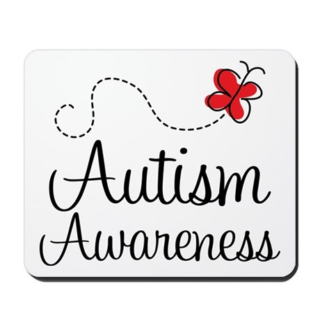 Butterfly Autism Awareness Mousepad