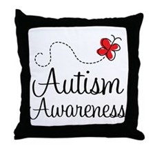 Butterfly Autism Awareness Throw Pillow