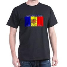 Andorra Andorran Flag Black T-Shirt