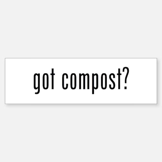 got compost Sticker (Bumper)