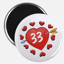 33rd Valentine Magnet