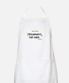 Jesus Said Housework Can Wait BBQ Apron