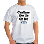 Curlers Do It On Ice Ash Grey T-Shirt