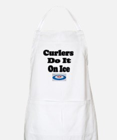 Curlers Do It On Ice BBQ Apron