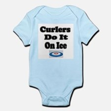 Curlers Do It On Ice Infant Creeper