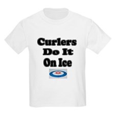 Curlers Do It On Ice Kids T-Shirt