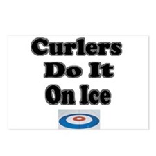 Curlers Do It On Ice Postcards (Package of 8)