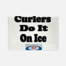 Curlers Do It On Ice Rectangle Magnet
