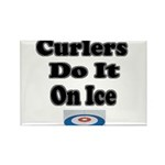 Curlers Do It On Ice Rectangle Magnet (100 pack)